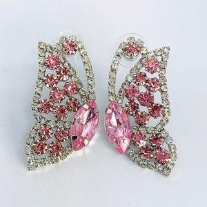 New! Sparkling Cubic Zirconia Butterfly Earrings